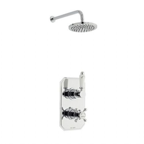 Kartell Viktory Mixer Shower Thermostatic Concealed Valve Fixed Shower Head Chrome